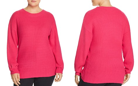 GLAMOROUS CURVY Ribbed Pleat-Cuff Sweater - Bloomingdale's_2