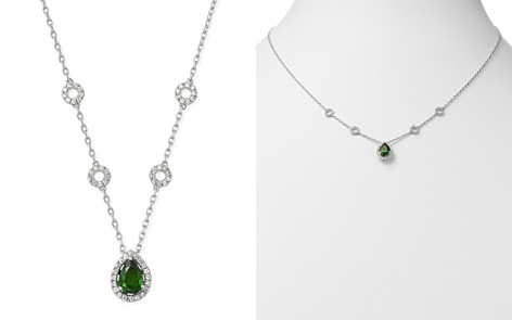 "Bloomingdale's Russalite & Diamond Pendant Necklace in 14K White Gold, 18"" - 100% Exclusive_2"