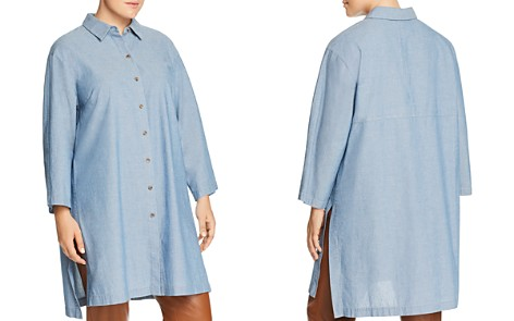 Lafayette 148 New York Plus Kyrie Chambray Tunic Blouse - Bloomingdale's_2