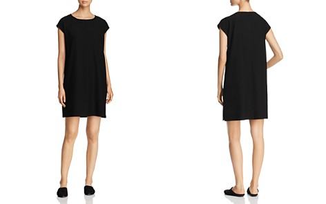Eileen Fisher Cap Sleeve Shift Dress - Bloomingdale's_2