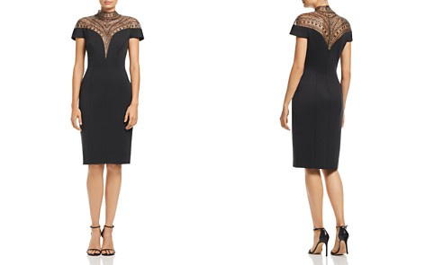 Tadashi Shoji Embellished Deep-V Illusion Dress - Bloomingdale's_2