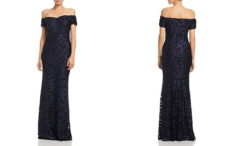 Laundry by Shelli Segal Off-the-Shoulder Scroll Lace Gown - 100% Exclusive - Bloomingdale's_2