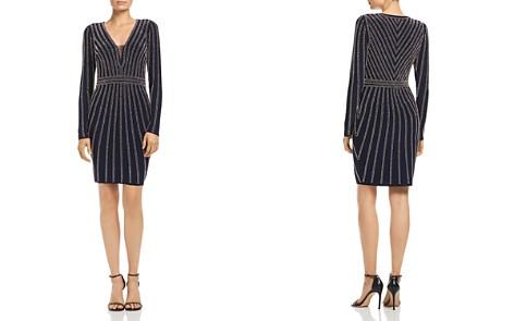 AQUA Beaded Long-Sleeve Dress - 100% Exclusive - Bloomingdale's_2
