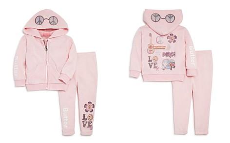 Butter Girls' Embellished Flower Power Hoodie & Sweatpants Set - Little Kid - Bloomingdale's_2