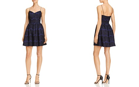 AQUA Bonded Lace Fit-and-Flare Dress - 100% Exclusive - Bloomingdale's_2