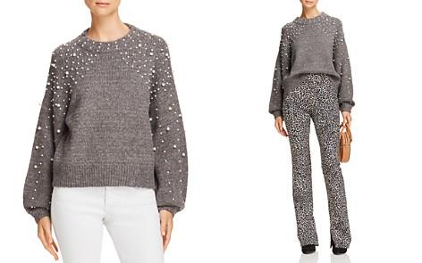 AQUA Embellished Balloon-Sleeve Sweater - 100% Exclusive - Bloomingdale's_2