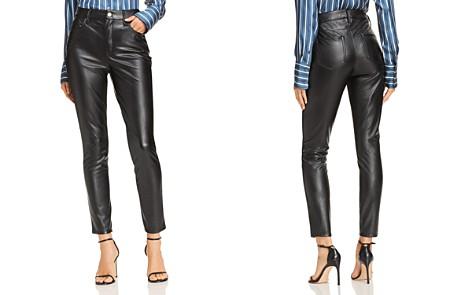 AQUA Faux Leather Skinny Pants - 100% Exclusive - Bloomingdale's_2