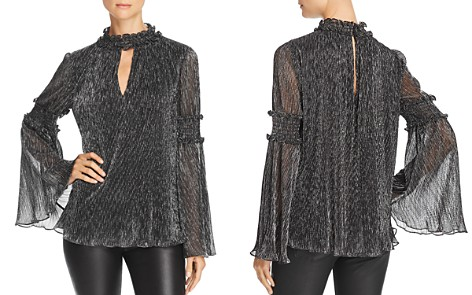 Parker Justina Metallic Smocked Top - Bloomingdale's_2