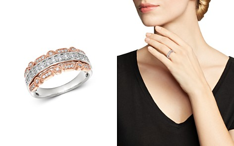 Bloomingdale's Diamond Three Row Band in 14K White and Rose Gold, 0.50 ct. t.w. - 100% Exclusive_2