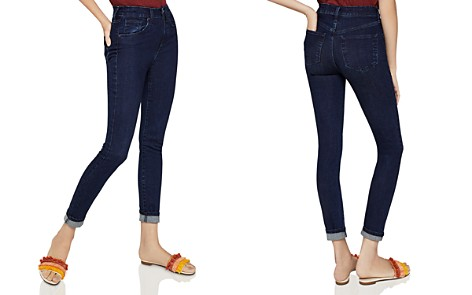 BCBGeneration Mid-Rise Skinny Jeans in Dark Wash - Bloomingdale's_2