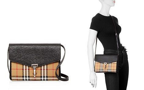 Burberry Macken Small Vintage Check & Leather Crossbody - Bloomingdale's_2
