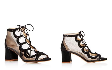 MARION PARKE Women's Brogue Suede Open Toe Block-Heel Booties - Bloomingdale's_2