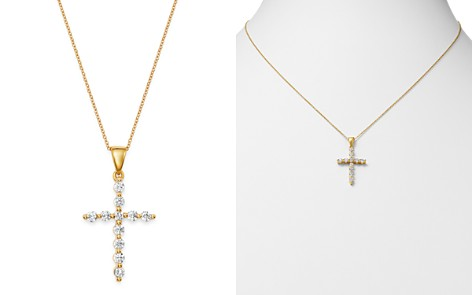 Bloomingdale's Diamond Large Cross Pendant Necklace in 14K Yellow Gold, 0.50 ct. t.w. - 100% Exclusive_2