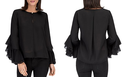 B Collection by Bobeau Jazz Flounce Sleeve Top - Bloomingdale's_2