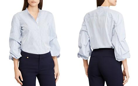 Lauren Ralph Lauren Striped Cinch-Sleeve Top - Bloomingdale's_2