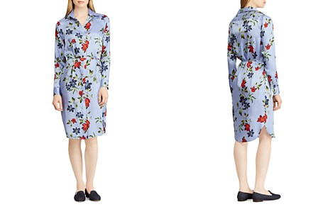 Lauren Ralph Lauren Pinstripe Floral Shirt Dress - Bloomingdale's_2