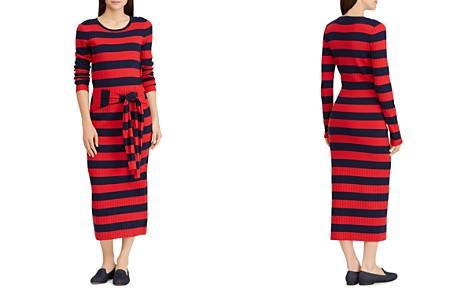 Lauren Ralph Lauren Striped Tie-Waist Midi Dress - Bloomingdale's_2
