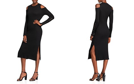 Current/Elliott The Going Steady Cold-Shoulder Rib-Knit Dress - Bloomingdale's_2