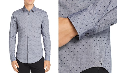 BOSS Ronni Dobby-Dot Slim Fit Shirt - Bloomingdale's_2