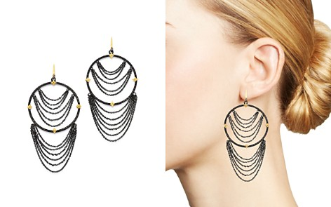 Armenta 18K Yellow Gold & Blackened Sterling Silver Old World Champagne Diamond Earrings - Bloomingdale's_2