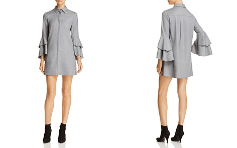 Alice + Olivia Jem Tiered-Sleeve Shirt Dress - Bloomingdale's_2