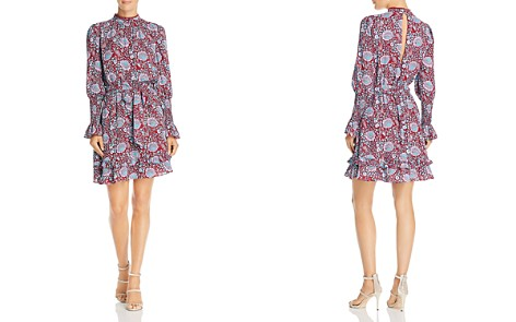 Rebecca Minkoff Belinda Long-Sleeve Floral-Print Dress - Bloomingdale's_2