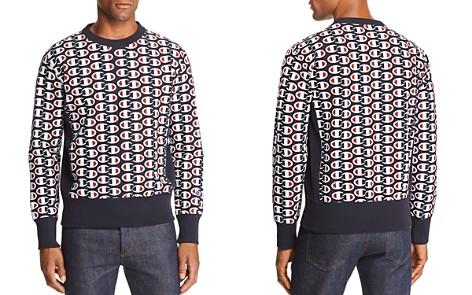 Champion Reverse Weave Allover Logo-Print Sweatshirt - Bloomingdale's_2