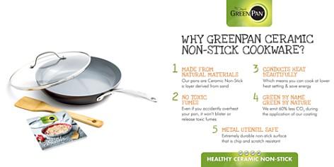 "GreenPan Valencia Pro 11"" Ceramic Nonstick Covered Frypan w/ Bamboo Turner & Mini Cookbook - Bloomingdale's Registry_2"