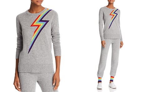 Madeleine Thompson Lightning Bolt Cashmere Sweater - Bloomingdale's_2