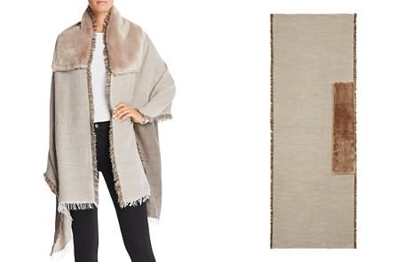 Gaynor Salice Faux Fur Detail Wrap - Bloomingdale's_2