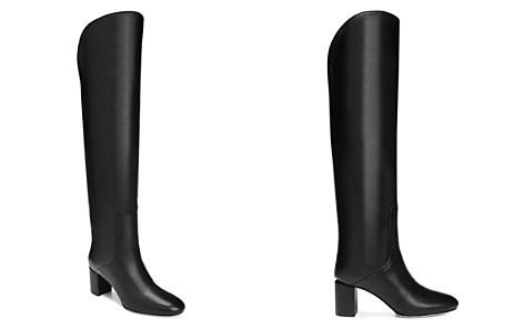 Via Spiga Women's Nair Almond Toe Leather Mid-Heel Boots - Bloomingdale's_2