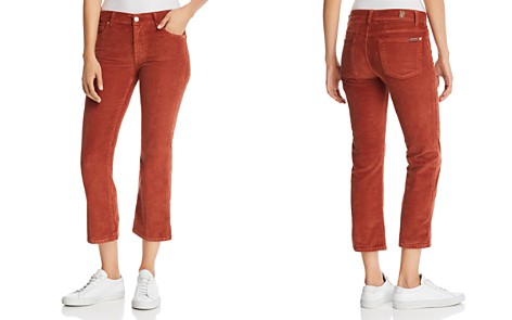 7 For All Mankind Cropped Bootcut Corduroy Jeans in Whiskey - Bloomingdale's_2