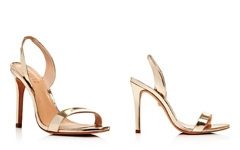 SCHUTZ Women's Luriane Metallic Leather Slingback Sandals - Bloomingdale's_2