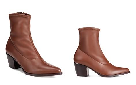 Vince Women's Hayek Stretch Leather Block Heel Booties - Bloomingdale's_2