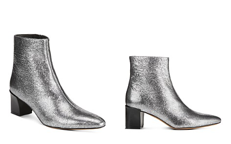 Vince Women's Lanica Metallic Leather Block Heel Booties - Bloomingdale's_2