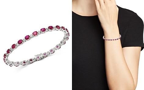 Bloomingdale's Ruby & Diamond Tennis Bracelet in 14K White Gold - 100% Exclusive_2