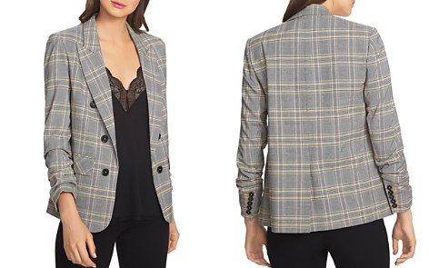 1.STATE Plaid Ruched-Sleeve Blazer - Bloomingdale's_2