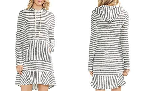 VINCE CAMUTO Striped Piqué Hoodie Dress - Bloomingdale's_2
