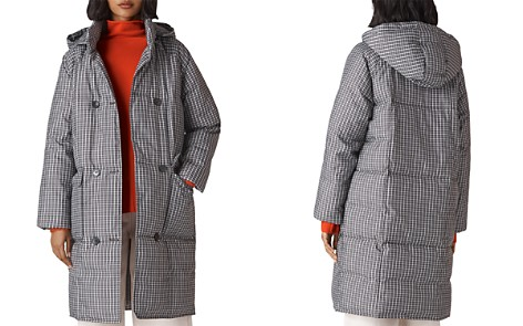 Whistles Checked Longline Puffer Coat - Bloomingdale's_2