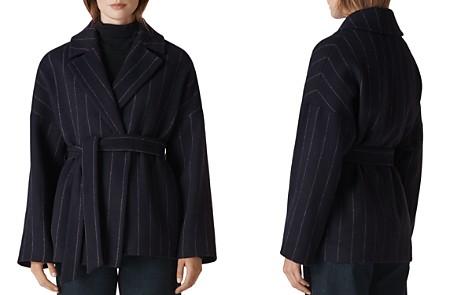 Whistles Striped Wrap Coat - Bloomingdale's_2