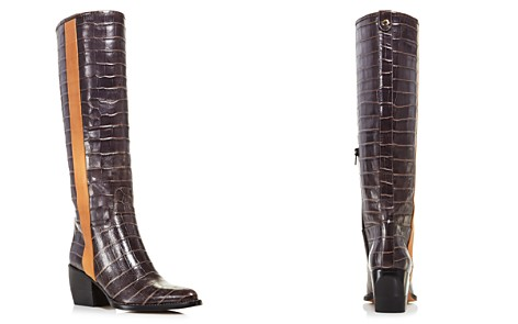 Chloé Women's Vinny Croc-Embossed Leather Tall Boots - Bloomingdale's_2