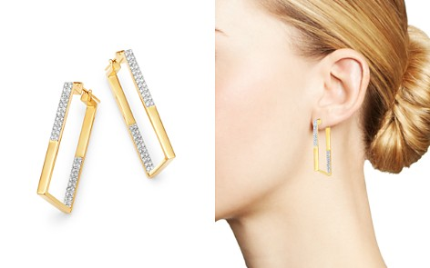Bloomingdale's Diamond Inside-Out Rectangular Earrings in 14K Yellow Gold, 1.0 ct. t.w. - 100% Exclusive_2