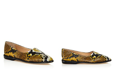 Chloé Women's Skye Round Toe Snakeskin-Embossed Leather Flats - Bloomingdale's_2