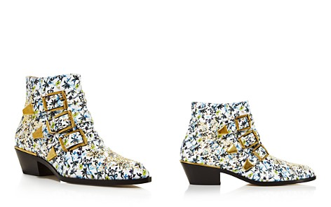 Chloé Women's Susan Studded Floral Print Leather Booties - Bloomingdale's_2