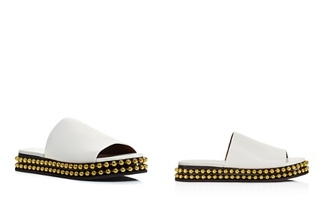 Chloé Women's Sawyer Leather Slide Sandals - Bloomingdale's_2