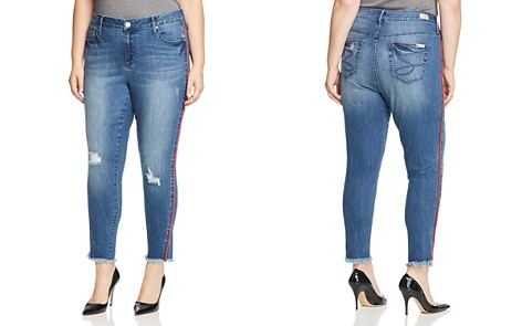 Seven7 Jeans Plus Piped-Trim Raw-Hem Ankle Jeans in Reeves - Bloomingdale's_2