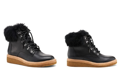 Botkier Women's Winter Leather & Rabbit Fur Lace Up Boots - Bloomingdale's_2