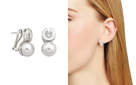 Majorica Simulated Pearl & Bezel Earrings - Bloomingdale's_2