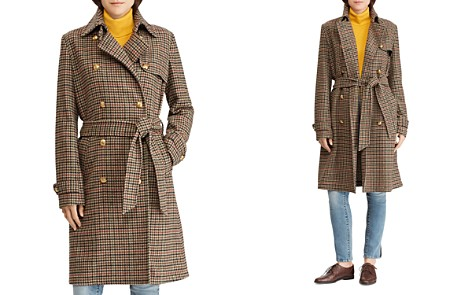 Lauren Ralph Lauren Houndstooth Wool Trench Coat - 100% Exclusive - Bloomingdale's_2