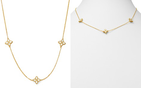 """Roberto Coin 18K Yellow Gold Venetian Princess Mother of Pearl Station Necklace, 18"""" - Bloomingdale's_2"""